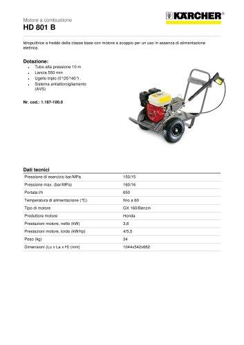 HD 801 B Motore a combustione