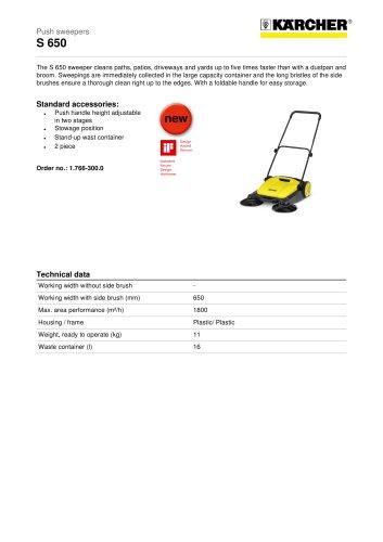 S 650 Push sweeper