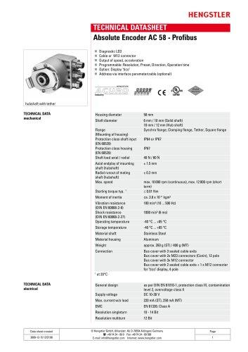 Absolute Encoder AC 58 - Profibus