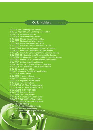 Daheng New Epoch Technology,Inc.-Optic Holders