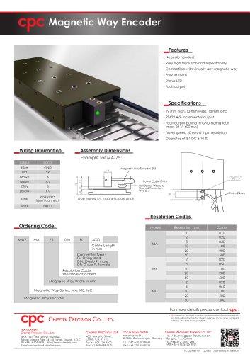 Magnetic Way Encoder