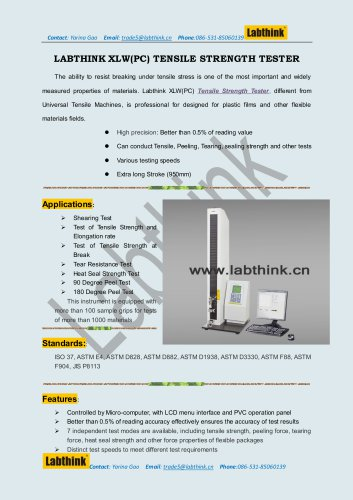 90/180 Peel Resistance Tester for self- adhesive pressure sensitive materials