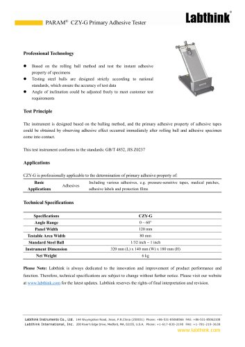 Adhesion Test Rolling Ball Method Laboratory Equipment