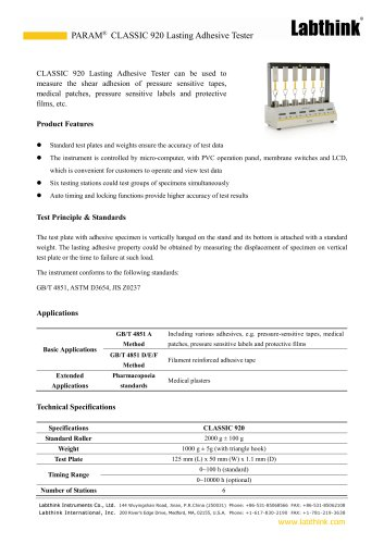 Adhesive Tape Last Adhesive Test Instrument