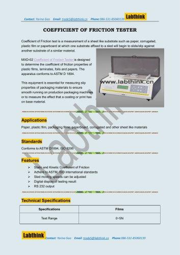 Aluminum Coefficient Of Friction Testing Equipment