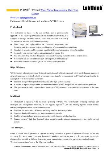 ASTM D1653 Water Vapor Permeability Tester