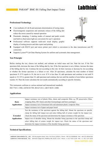 ASTM D1709 High Efficiency Shipping Packaging Air Cushion Drop Dart Impact Tester