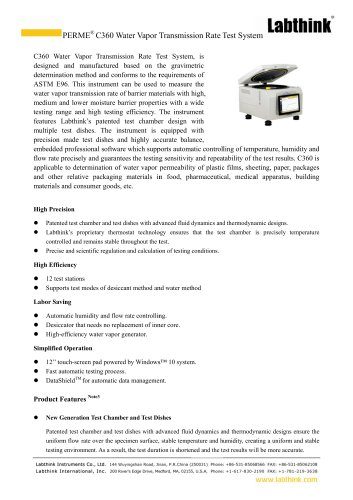 ASTM E96 Water Vapor Transmission Rate Tester for Building MateriaLS
