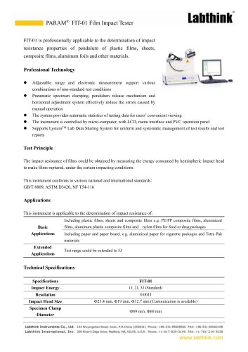 Automatic Hazmat Suit Materials Puncture Resistance Tester