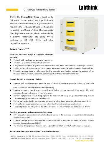 C130H Gas Permeability Tester