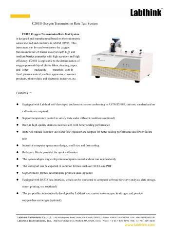 C201B Oxygen Transmission Rate Test System