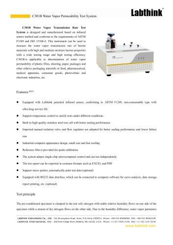 C301B Water Vapor Permeability Test System