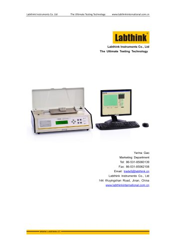 Coefficient of Friction Test System for Paper, Plastic Films, Aluminum Foils