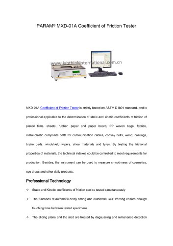 COF tester on plastic laminate film PET/PE