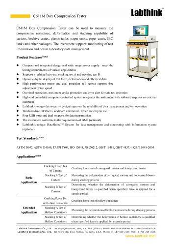 Corrugated Fiberboard Box Compressive Strength Testing Machine