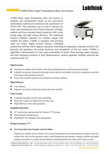 Cup Method High Efficiency Plastic Films WVTR Testing Equipment