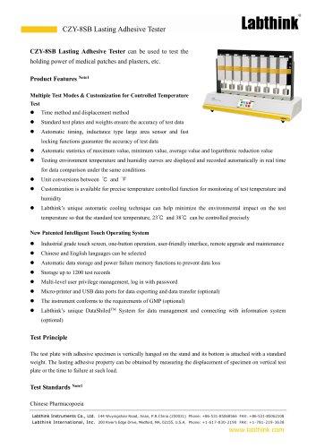 CZY-8SB Lasting Adhesive Tester
