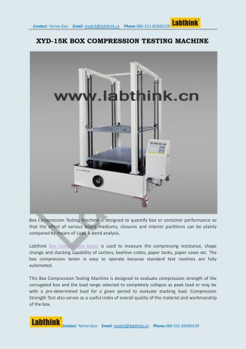 Digital Protective Containers Crushing Resistance Measuring Machine