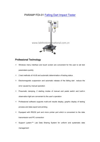 Drop Dart Impact Testing Machine