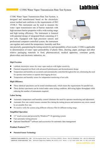 Electrolytic Sensor Method Water Vapor Transmission Rate Test System