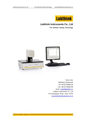 Fabrics Thickness Test Device according to ASTM D1777 From Labthink