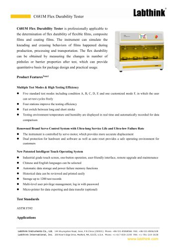 Flex Durability Tester For Flexible Materials