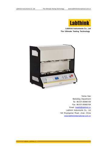Flex resistance Testing for Plastic Films using Labthink Gelbo Flex Tester FDT-02