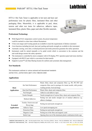 Flexible Thermoplastic Hot Tack Test Equipment