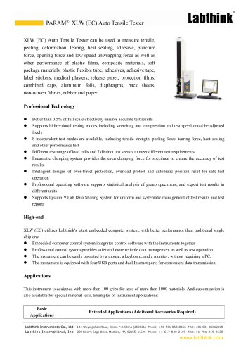 High Efficiency Laminated Layers Peel force Tester