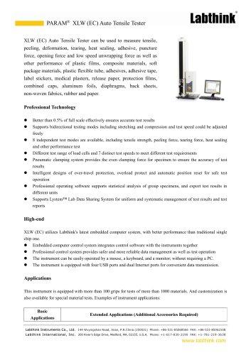 High Tear Strength Materials Tear Propagation Testing Laboratory Equipment