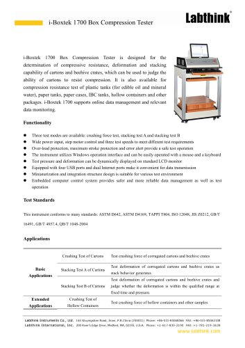 i-Boxtek 1700 Box Compression Tester