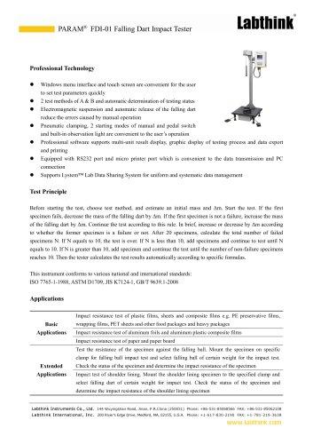 International Standard Bubble Film Impact Laboratory Testing Device