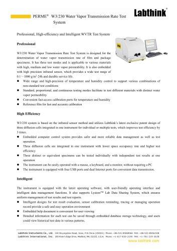 ISO 15106-2 Plastic Film Moisture Permeability Testing Equipment