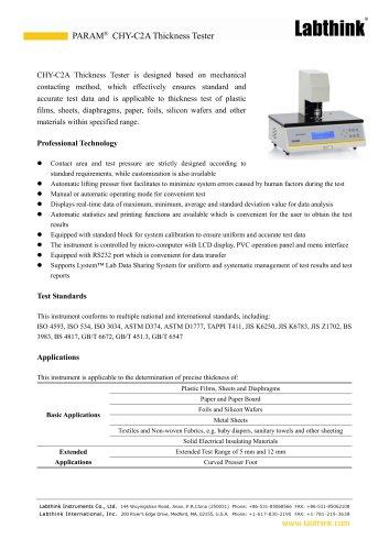ISO Standard Plastics Sheeting Film Thickness Measuring Instrument Micron Measure