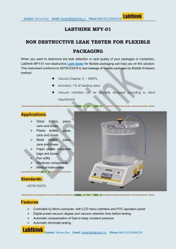 Labthink ASTM MRE Meals Package Leak Detection Equipment