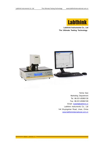 Labthink Bench top Precise Thickness Tester for thickness measurement of thin polymeric film