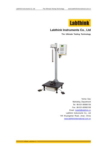 Labthink drop ball testing machine to measure drop ball resistance of plastics