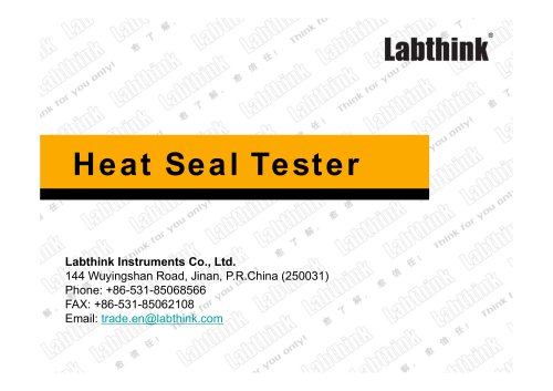 Labthink Hot Seal Strength Tester for Plastic Packaging Materials ASTM F2029