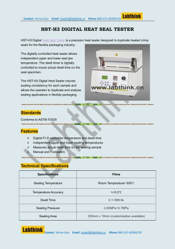 Labthink HST Antiseptic Bags Heat Seal Test Instrument