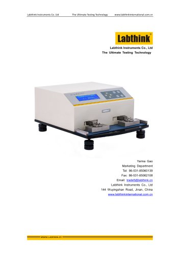Labthink Ink Abrasion Tester for Printing Industry ASTM D5264