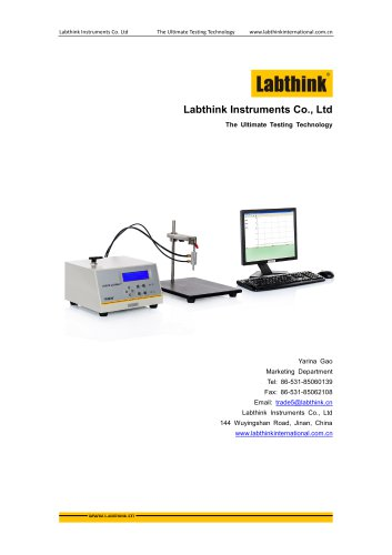 Labthink LSSD-01 Leak and Seal Strength Tester can run ASTM F2054 restrained burst and F1140 unrestrained burst