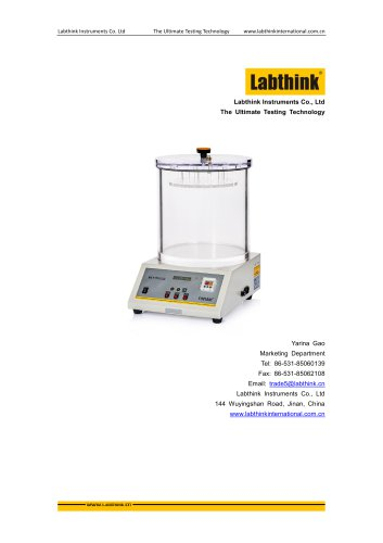 Labthink MFY-01 air leak tester to measure air tightness of bags