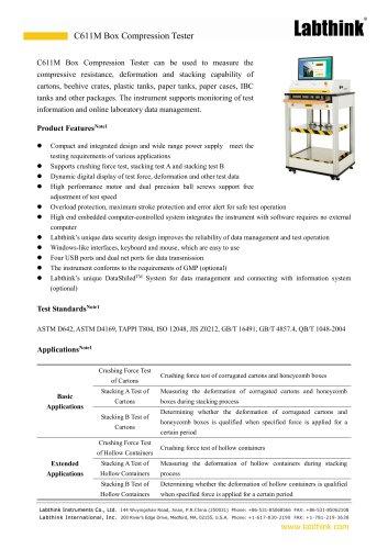 Labthink New Carton Compression Tester