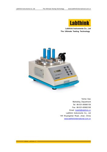 Labthink NJY-20 Manual Torque Tester for Cosmetics Packaging Tubes and bottles caps