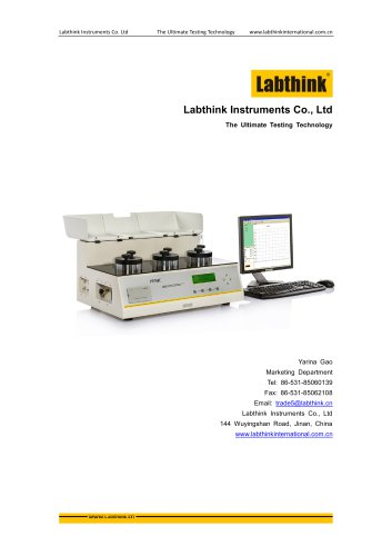 Labthink OX2/231 Oxygen Permeability Tester / Oxygen Transmission Rate Tester for Aseptic Bags packaging