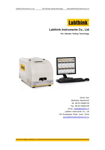 Labthink Oxygen permeability tester to measure oxygen transmission rate of thin polymeric film