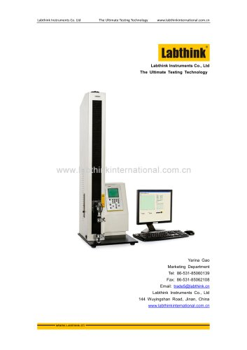 Labthink provides Tensile Strength Test Instrument for Adhesive Bopp tapes