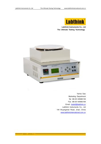 Labthink RSY-R2 Heat Shrinkage Tester for Plastic Packaging Materials at high temperature
