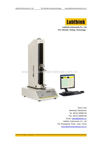 Labthink Tensile Test Apparatus to determine Lamination Bond Strength of Flexible materials