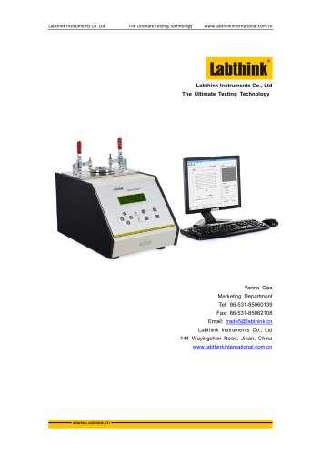 Labthink TQD-G1 Air Permeability Test Equipment for Textile and Fabrics